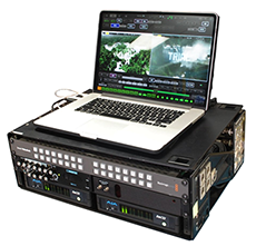This is the portable setup format of the QTake HD 4 X system.